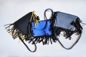 FRAN3 Nero frange giallo zafferano, Blu royal frange nero, grigio frange nero